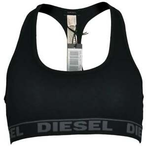 8621f88e59 DIESEL Underwear Women s UFSB Miley Cotton Bralette Black + Grey ...