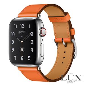 Apple Watch Series 5 Hermes 40mm Stainless Steel Case Single Tour Orange New Ebay