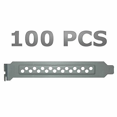 Lot of 100 Standard Case Vented PCI Slot Covers