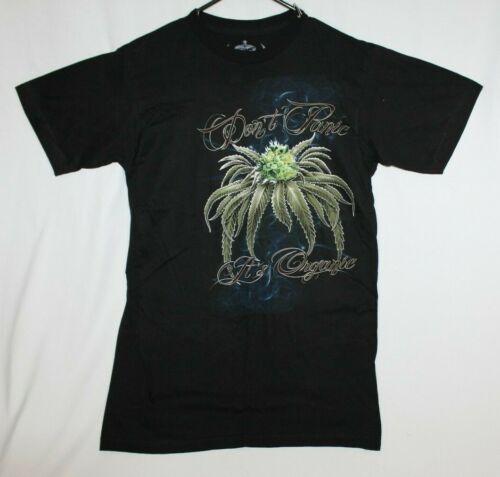 Don/'t Panic It/'s Organic Pot 420 Marijuana Weed Funny Graphic T-shirt Medium NEW