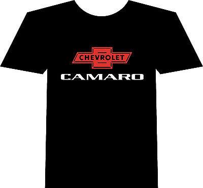 Chevy Camaro T-Shirt, New, Black Bowtie Motorsport Musclecar