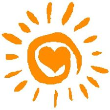 30 Custom Orange Heart Sun Personalized Address Labels