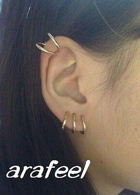 Clip-On Hoop Fake Nose Lip Ring Spring man woman 1.3cm Piercing/'s Stud Earrings