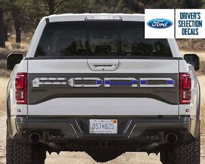 Ford F150 Raptor 2017 back tailgate lettering USA America flag decal sticker | eBay