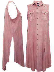PLUS-SIZE-Eaonplus-VINTAGE-ROSE-Sleeveless-Collared-Shirt-Dress-18-20-to-22-24
