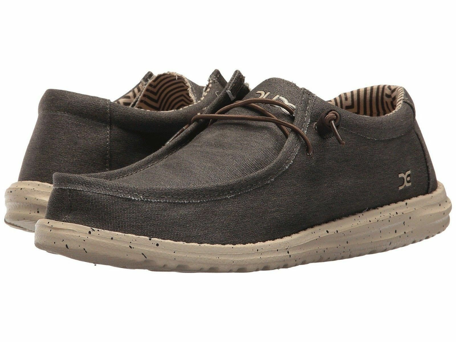 Hey Dude Men's Wally Stretch Chocolate shoes