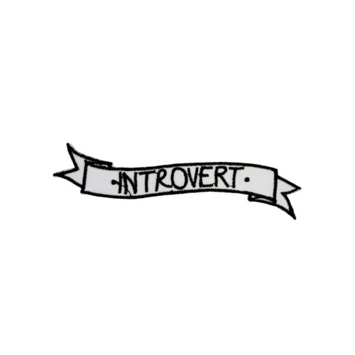 Introvert Iron On Patch Funny Slogan Gift Clothing Transfer Applique BNWT//NEW