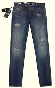JACK & JONES Herren SLIM FIT Jeans Hose GLENN JJICON mit Stretch MID BLUE DENIM