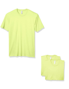 Marky-G-Men-039-s-3-Pack-CVC-Crew-Neck-Short-Sleeve-T-Shirt-Neon-Yellow-Size-M-NWT