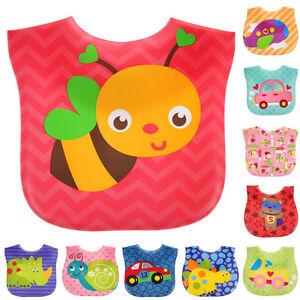 New-Hot-Baby-Bibs-Infants-kids-Cartoon-Saliva-Towel-Waterproof-Lunch-bibs-Multi
