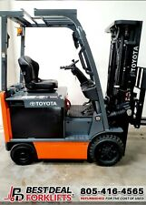 Qty 22 Refurbished 2018 Toyota 8fbcu25 4 Wheel Electric Forklifts 2 Stage