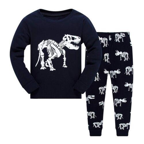 2PCS Children Kids Boys Girls Dinosaur Top Soft Clothes+Long Pants Set Outfit