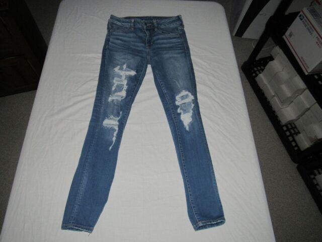 American Eagle Women's Jegging Blue Denim Jeans Size 8 Reg Waist 28