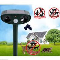 Ultrasonic Solar Power Pest Animal Repeller Garden Bat Cat Dog Foxes Repellent