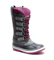 Authentic Sorel Joan Of Arctic Knit Tall Leather Shale Waterproof Boots 10