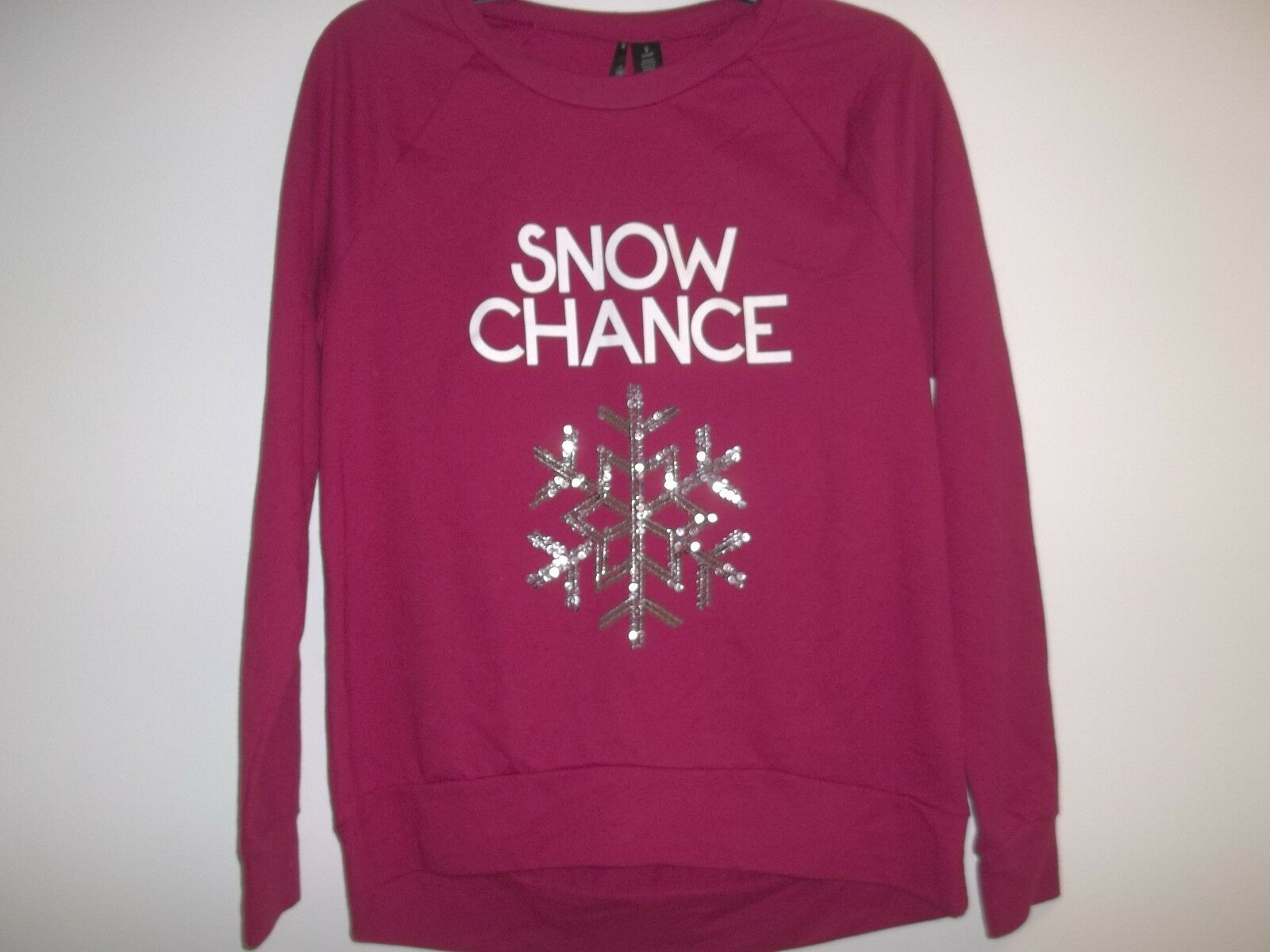 So It Is Size Small SNOW CHANCE Red Christmas Sweatshirt New Womens Clothing