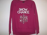 So It Is Size Small Snow Chance Red Christmas Sweatshirt Womens Clothing