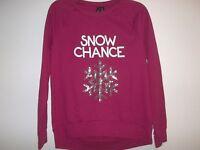 So It Is Size Medium M Snow Chance Red Christmas Sweatshirt Womens Clothing
