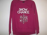 So It Is Size Large L Snow Chance Red Christmas Sweatshirt Womens Clothing