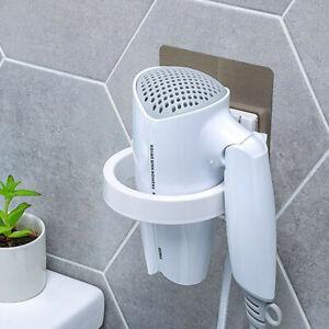 Wall-Mounted-Hair-Dryer-Holder-Home-Bathroom-Stand-Adhesive-Bracket-Organizer-W