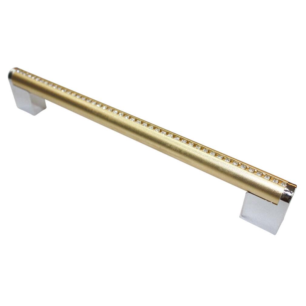 10 pcs Gold Chrome Metal 192 mm Bar Handles Cupboard Cabinet Pulls KM306