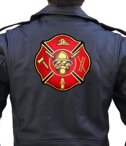 Fire Fighter Maltese Cross Fireman Biker Patch FREE SHIP