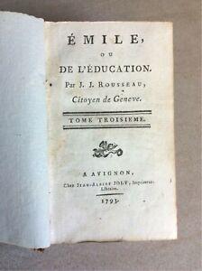Rousseau, Emile ou de l'Education Ausgabe von 1793