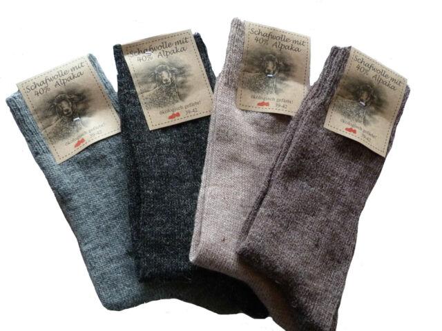 Herren Wollsocken Alpaka Socken Schafwollsocken Schurwolle Gr. 39-46 FEIN u DÜNN