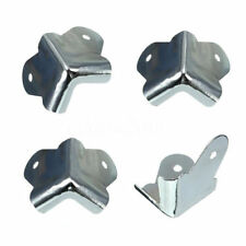 4pcs Metal 2 Holes Guitar Amp Speaker Box Cabinet Case Corner Protector 40mm