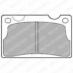 BRAKE PADS Front Axle Delphi LP39