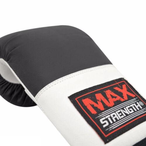 Max Strength Focus Pads Hook Jab Mitt Bag Gloves MMA Sparring Punching Bag Black