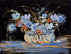 Gustave Bourgogne, Prelude XXI – Original mid-20th-century gouache painting