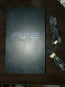 Sony PlayStation 2 PS2 Console - Black (SCPH-39001) USED w/ Power & A/V cords f1