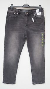 BNWT-M-amp-S-COLLECTION-Ladies-Grey-Straight-Leg-Stretch-Ankle-Grazer-Jeans-size-12