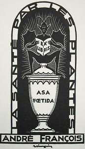 Ex-Libris-1970-Andre-Francois-Raymond-Simonin-Health-By-die-Pflanzen-Asa-Foetida
