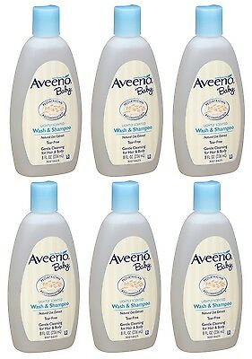 Bathing & Grooming 6 Pack Aveeno Baby Wash And Shampoo Lightly Scented Wash And Shampoo 8oz Each