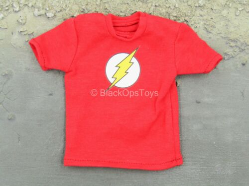 Red Shirt w//The Flash Logo Detail 1//6 Scale Toy Sheldon Cooper