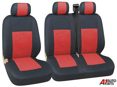2+1 BLACK SOFT COMFORT FABRIC /& ARMREST SEAT COVERS FOR RENAULT MASTER TRAFIC