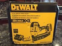 Dewalt Dcn660d1 20v Max Cordless 16ga 20 Deg Angled Finish Nailer Kit Sale