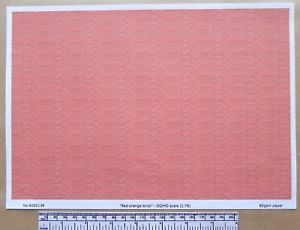 """OO//HO gauge 1:76 scale A4 sheet /""""Old /& repaired brick/"""" paper"""
