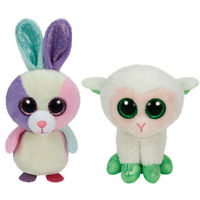 Ty Easter Basket Beanies Set 4 Lala The Lamb & Bloom The Bunny Rabbit