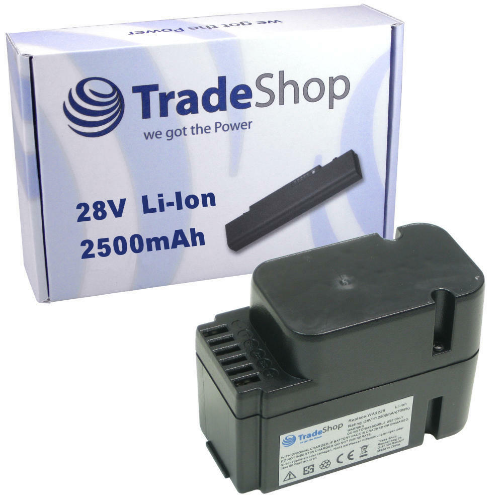 Hochleistungs AKKU 28V 2500mAh Li-Ion für Worx Landroid WG798 WG755 WG790 WG794