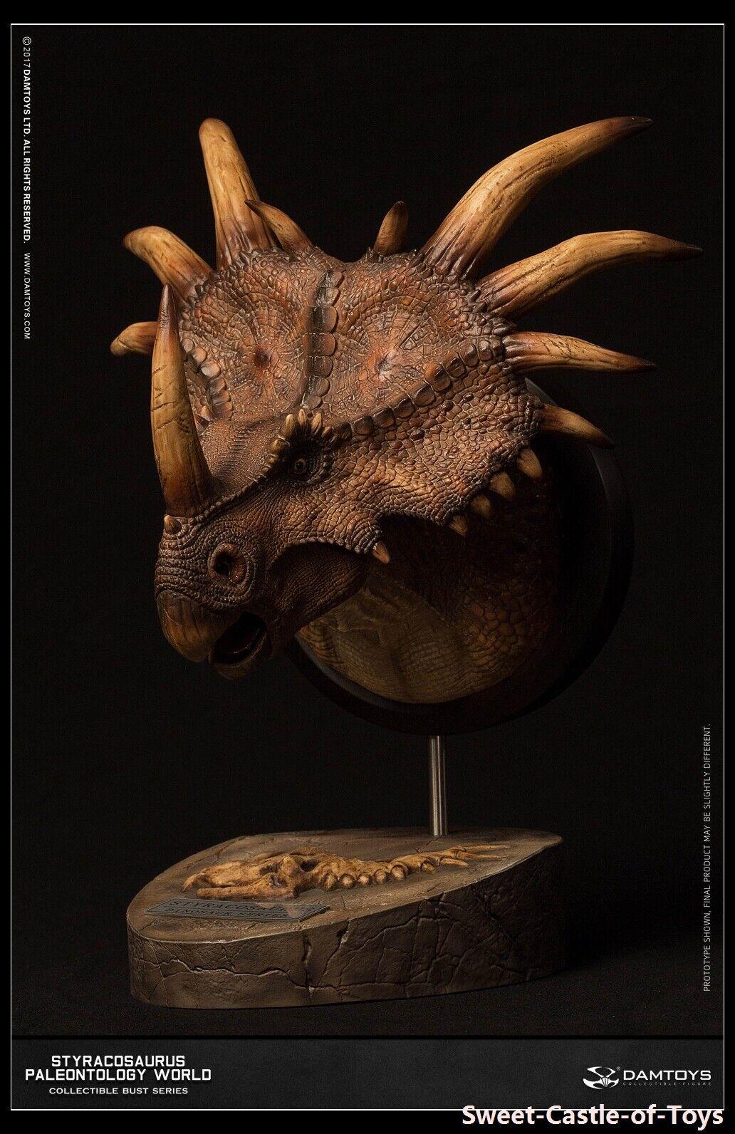 1 6 DAM Museum Series Stracosaurus autoautobust  Collectible Statue Marroneee Ver. MUS004B  vendita online