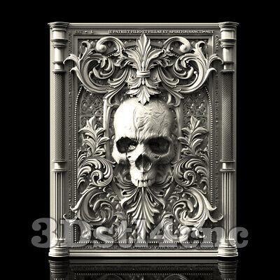 3D Model STL CNC Router Artcam Aspire Skull Kiot Victorian Decor Cut3D Vcarve
