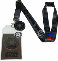 Star Wars Darth Vader Costume Lanyard Sticker Id Badge Holder & Imperial Charm