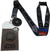 Star Wars Darth Vader Costume Lanyard Sticker Id Badge Holder & Imperial Charm