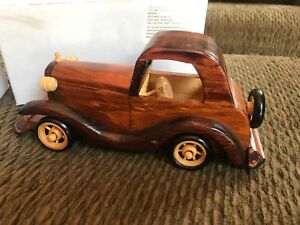 Collector Cars Made Of Wood 4 X9 Set Of 2 Cars Ebay