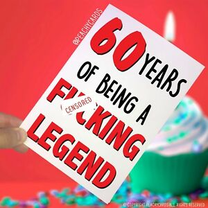 Image Is Loading Funny Adult 60th Birthday Card 60 Years F