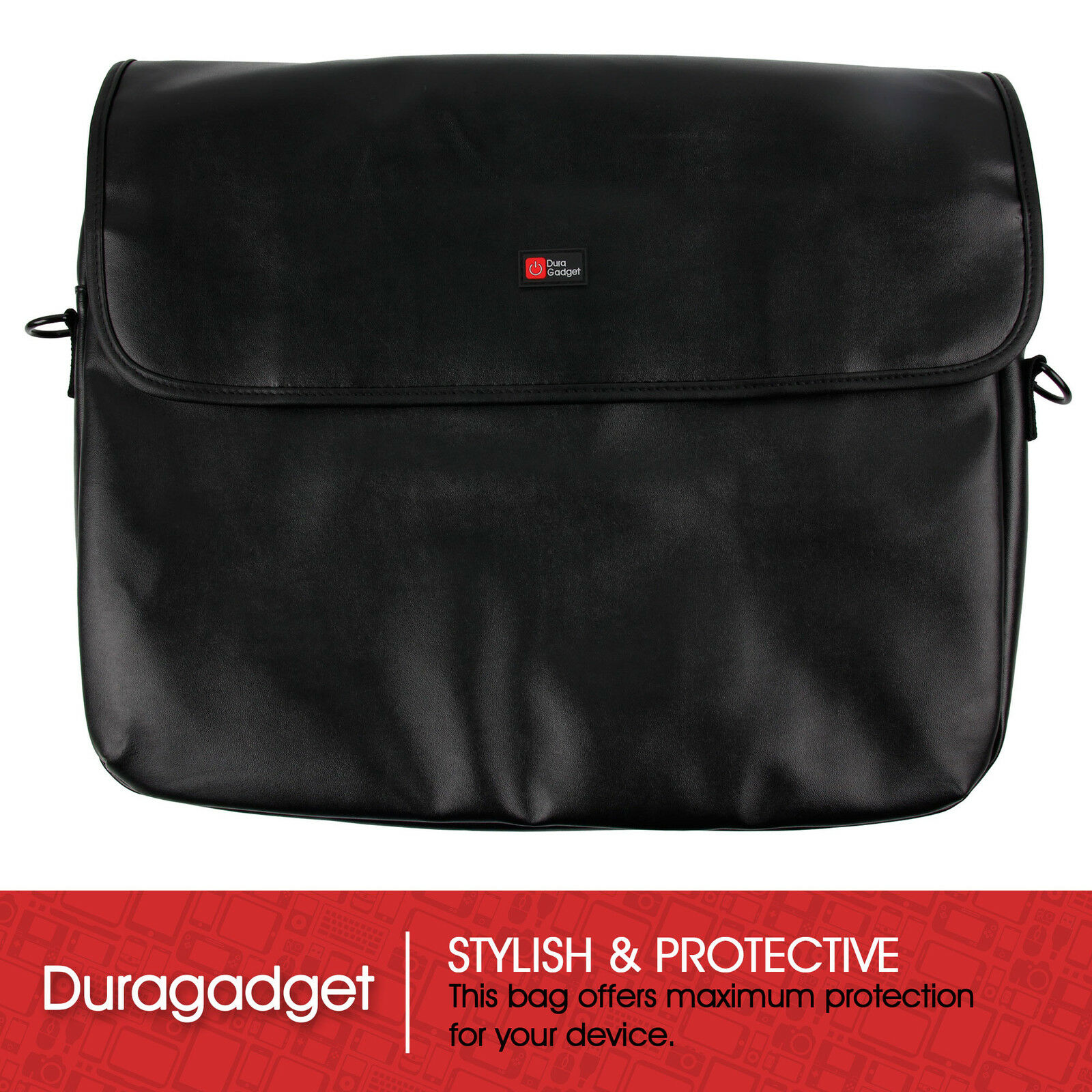 7dbdce772e22 Luxury PU Leather Bag in Black for HP Compaq 15-h200ns E1 / 255 G3 Laptops