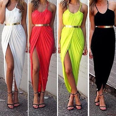 1PC Sexy Women Strap Long Dress Summer Beach Boho Maxi Casual Sundress Perfect